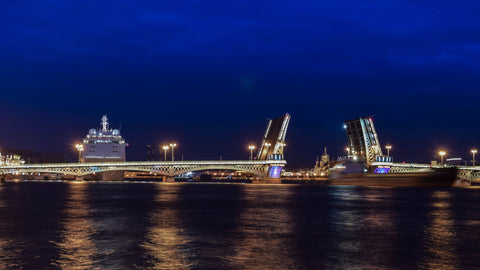 Annunciation Bridge In St. Peterburg