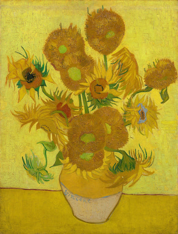 Vase with Fifteen Sunflowers - Large Art Prints