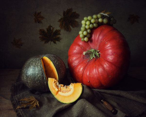 Pumpkins And Grapes - Art Prints