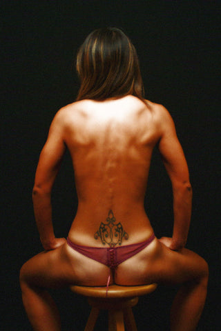 Muscular Back Of A Woman
