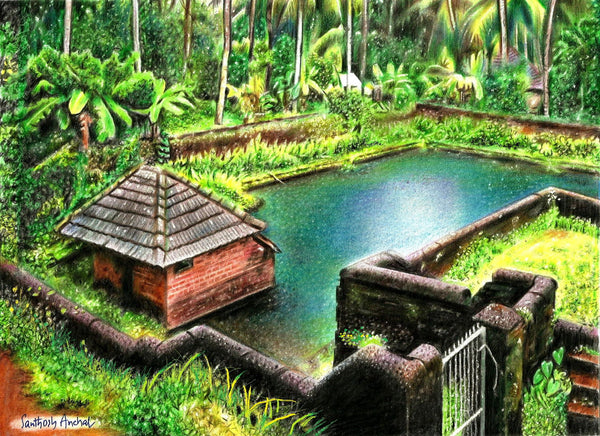 Artwork of Natural Beauty Of Kerala by Santhosh Anchal