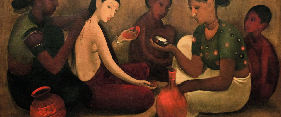 Bride's Toilet by Amrita Sher-Gil | Buy Posters, Frames, Canvas  & Digital Art Prints