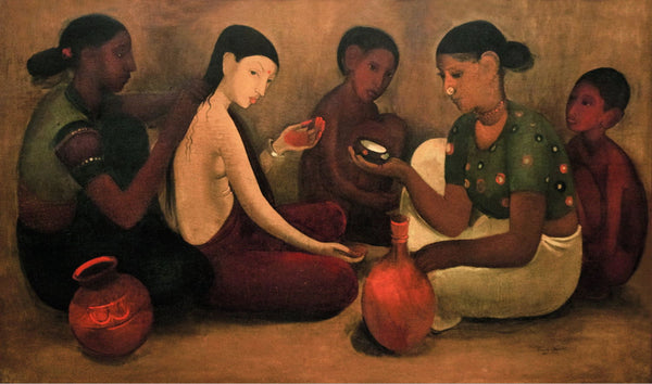 Artwork of Bride's Toilet by Amrita Sher-Gil