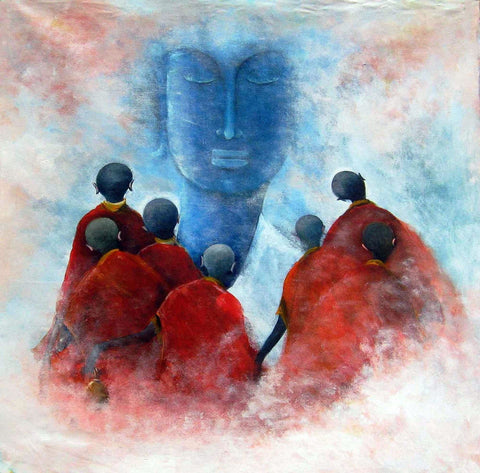 Buddha With Disciples - Posters