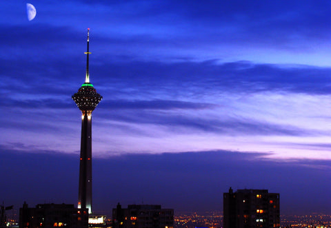 Milad Tower - Canvas Prints by Shahriar Dabiri
