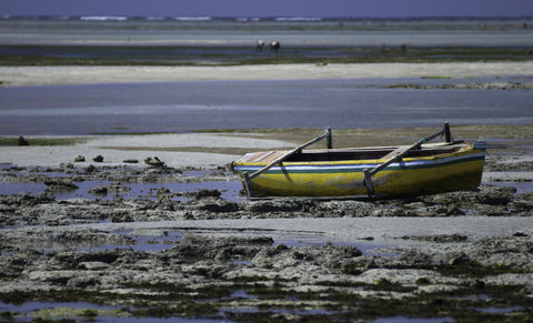Fishermen Boat At Low Tide