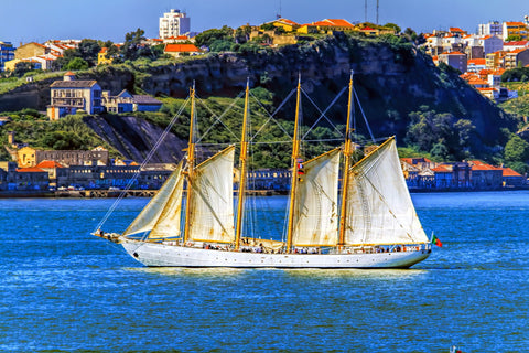 A Four Masted Schooner - Large Art Prints