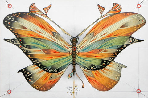 Big Coloured Butterfly - Posters by Federico Cortese