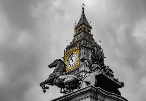 Big Ben Gold - Canvas Prints