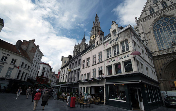 Old Citycentrum Antwerp - Canvas Prints