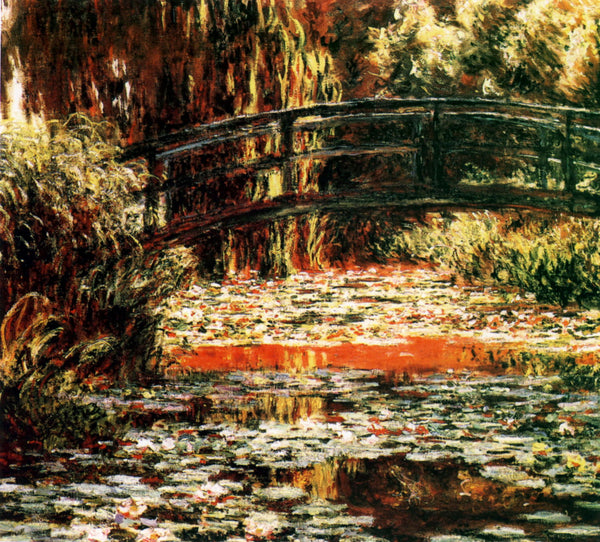 Artwork of Japanese Bridge In Giverny by Claude Monet