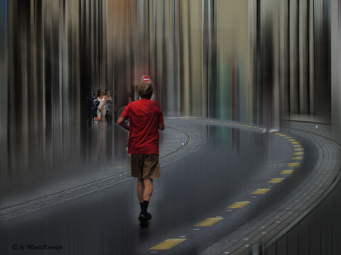 Street Walker - Canvas Prints