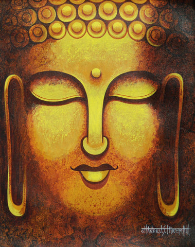 Buddha by Chandru S Hiremath