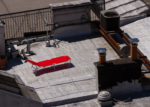 Sun Tanning On The Rooftops Of New York