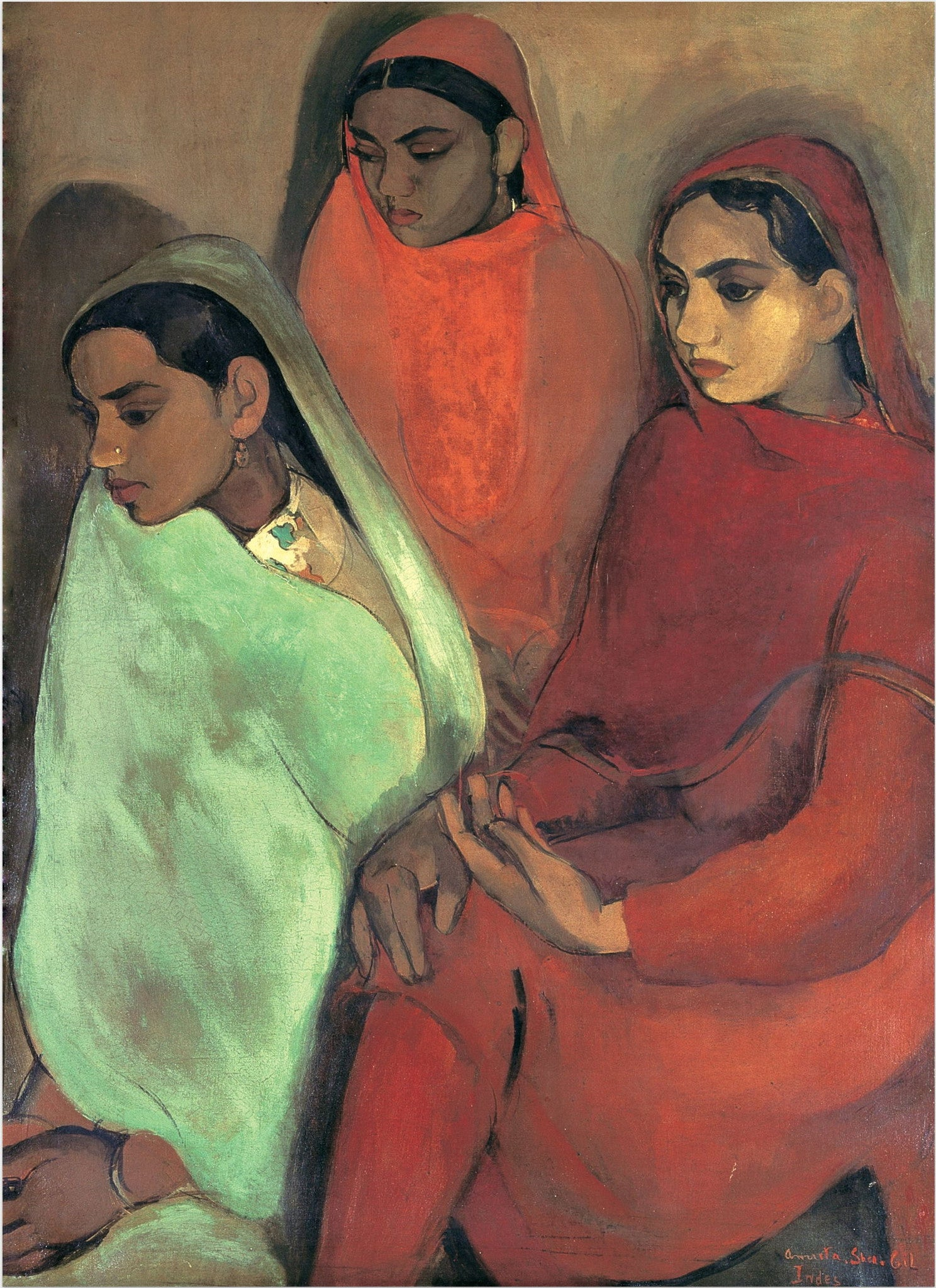 Amrita Sher-Gil Paintings | Buy Posters, Frames, Canvas, Digital Art & Large Size Prints Of The Famous Modern Master's Artworks