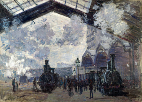 The Gare Saint-Lazare Arrival Of A Train by Claude Monet