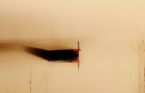 Jetty In Fog - Canvas Prints