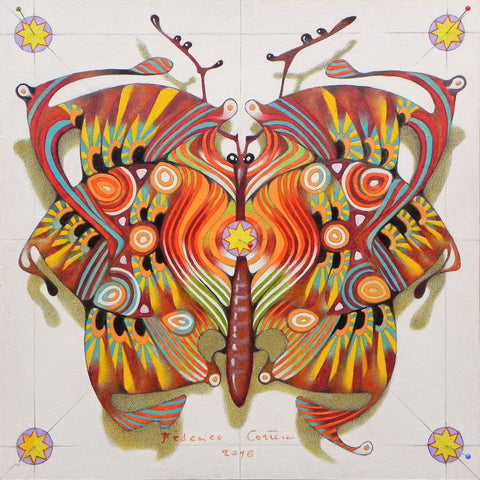 Tribal Butterfly - Posters by Federico Cortese