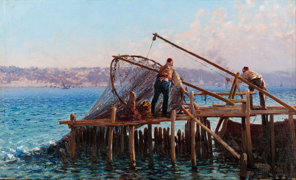 Fishermen Bringing In The Catch - Canvas Prints