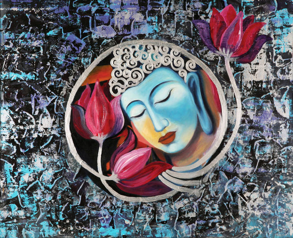 Blissful Buddha - Large Art Prints