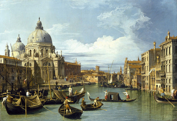 the entrance to the grand canal venice framed prints by canaletto