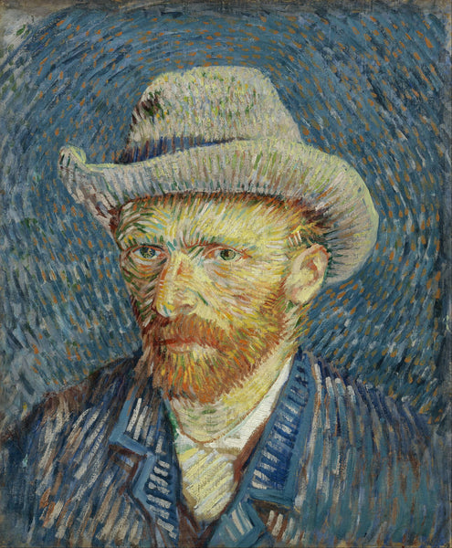 Artwork of Self-Portrait with Grey Felt Hat by Vincent Van Gogh