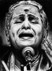 M. S. Subbulakshmi by Aakash Ramesh | Tallenge Store | Buy Posters, Framed Prints & Canvas Prints