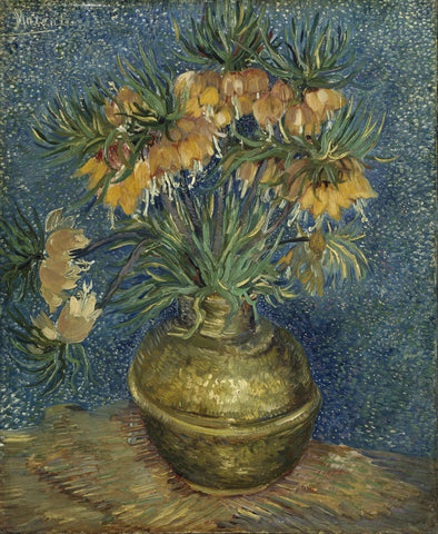 Imperial Fritillaries in a Copper Vase by Vincent Van Gogh