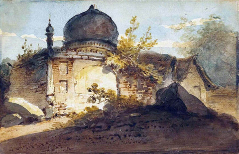 Hindu Shrine or Tomb 1820 by George Chinnery by George Chinnery