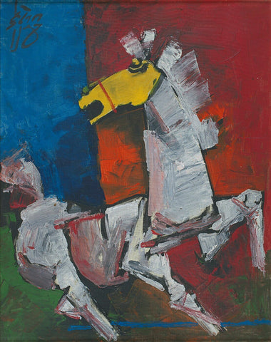 Horse - Posters by M F Husain