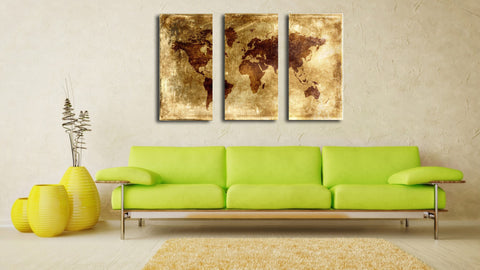 World Map - Art Panels