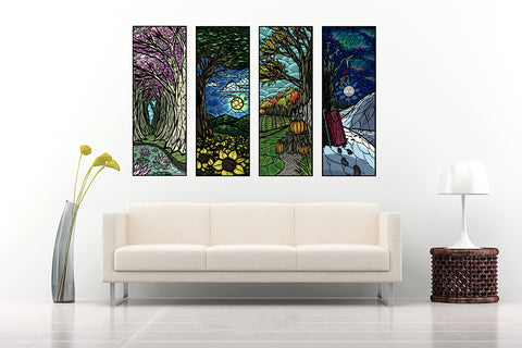 The Four Seasons - Art Panels
