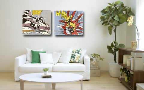 Set Of 2 Roy Lichtenstein - Whaam! - Gallery Wrap Art Print