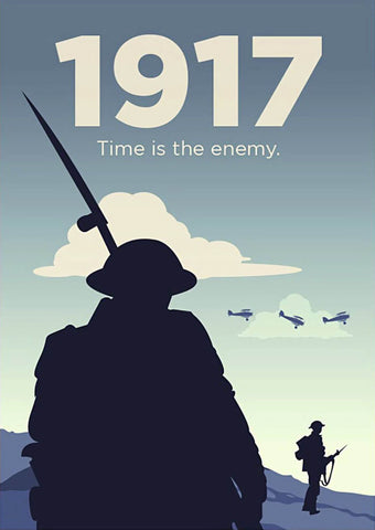 1917 - Sam Mendes WW1 Epic - Hollywood War Film Classic English Movie Minimalist Poster - Posters by Kaiden Thompson