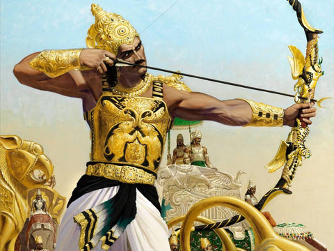 Arjuna In The Battlefiled by Tallenge Store