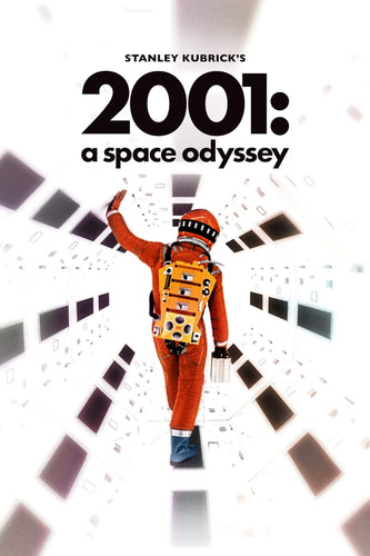 Artwork of 2001 A Space Odyssey - Stanley Kubrick - Tallenge Hollywood Classic Movie Art Poster Collection by Tim