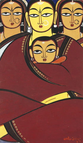 Jamini Roy -  Untitled (Three women)