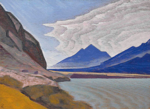 Nubra Valley – Nicholas Roerich Painting –  Landscape Art by Nicholas Roerich