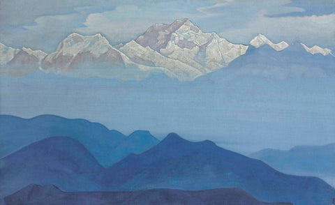 Himalayas From The Sikkim series – Nicholas Roerich Painting –  Landscape Art by Nicholas Roerich