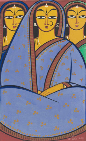 Three Women (1940) - Jamini Roy by Jamini Roy