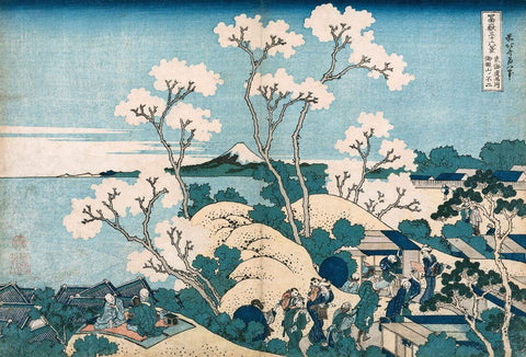 Fuji from Gotenyama at Shinagawa on the Tōkaidō – Katsushika Hokusai - Posters