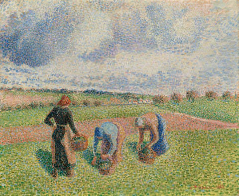 Children In A Garden At Eragny