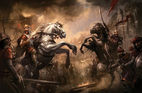 Battle Between Richard The Lionheart And Saladin by Tallenge Store