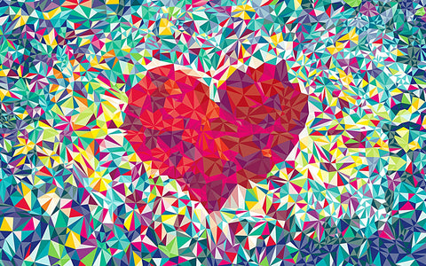 Abstract Painting of Heart by Sina Irani