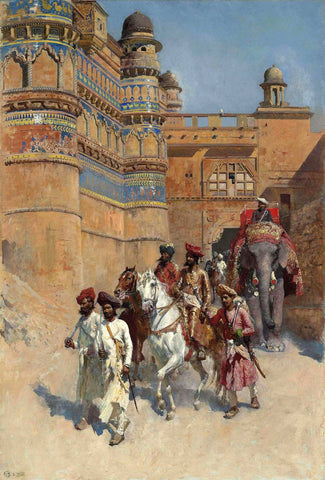 Lord Maharaj Gwalior by Edwin Lord Weeks