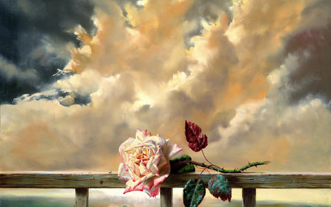 Beautiful Painting Of A Rose by Sina Irani