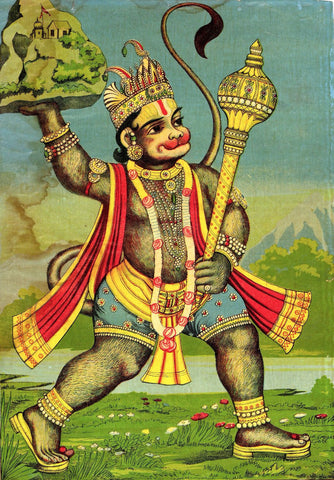 Hanuman Fetches the Herb-bearing Mountain - Art Prints