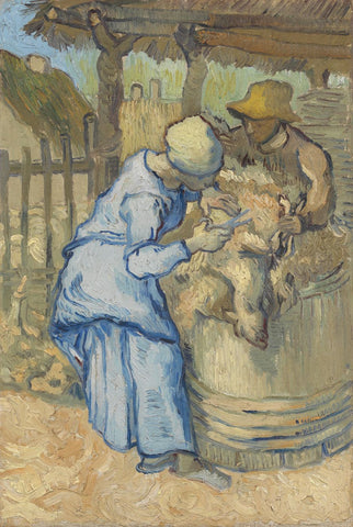 The Sheep-Shearer After Millet