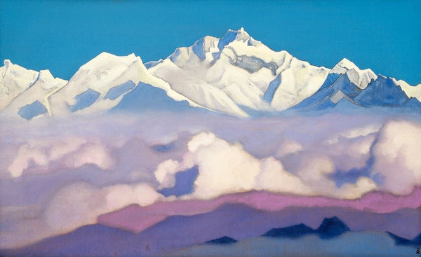 Himalayas from the Sikkim - Canvas Prints