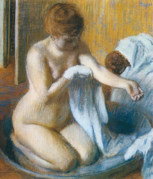 After the Bath, Woman In A Tub - Framed Prints